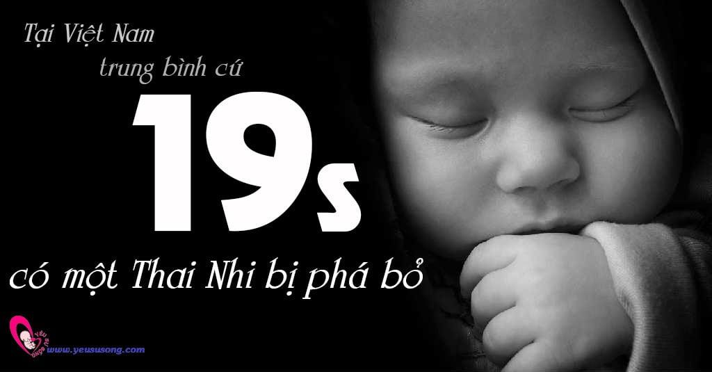 Trung bình 19s tại Việt Nam có một thai nhi bị phá bỏ