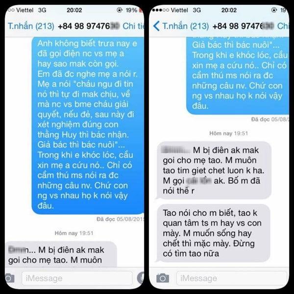 Tin nhắn gây sốc của chàng trai 9X Hà Nội bắt bạn gái phá thai lần 2.