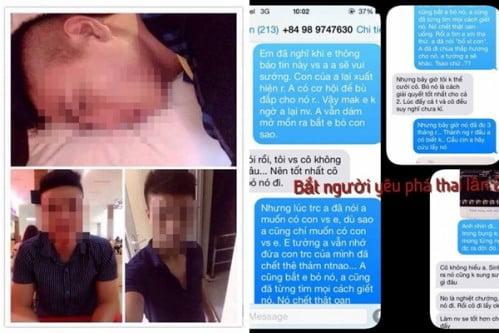 Hình ảnh nam thanh niên và tin nhắn gây phẫn nộ (Ảnh: Beat.vn)