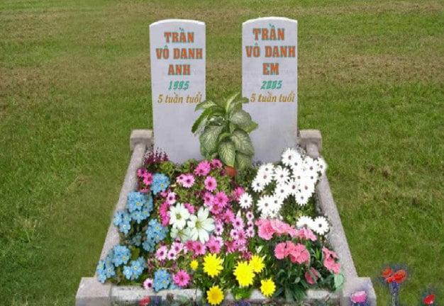 Những mộ phần thai nhi trên nghĩa trang online (nhomai.vn) - Ảnh: T.L.