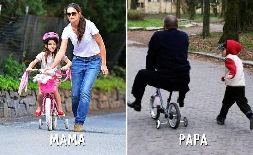 """Nếu mẹ dạy bạn cách tập đi xe đạp thì ông bố sẽ dạy bạn cách """"rèn luyện sức khỏe"""". Cùng chạy bộ nào."""