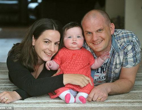 Gia đình hiện tại của cặp đôi 10 lần sảy thai.
