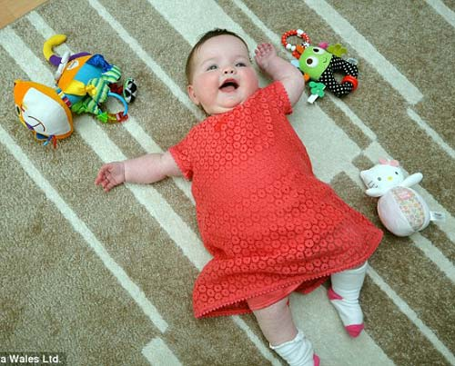 Bé Eryn hiện tại đã được 7 tháng tuổi.