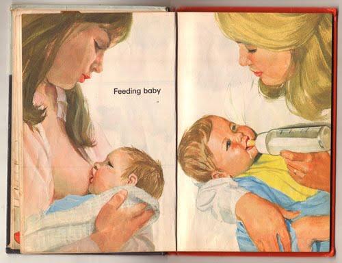 Bìa một cuốn sách về bú mẹ và bú bình