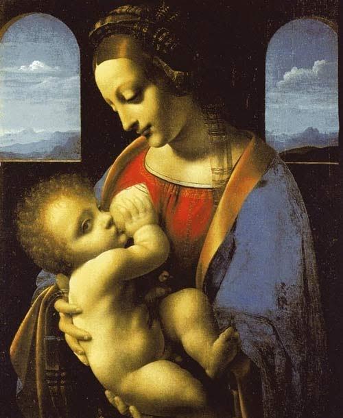 Bức tranh của họa sĩ lừng danh Leonardo Da Vinci về mẹ Maria và Chúa Giêsu