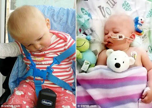Trước đó, cô bé được chẩn đoán mắc căn bệnh ác tính Mitochondrial. (Ảnh: Daily Mail)
