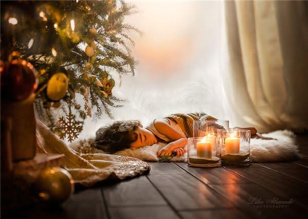 Thiên thần nhỏ say ngủ trong một buổi chiều đông. (Ảnh: Lilia Alvarado)