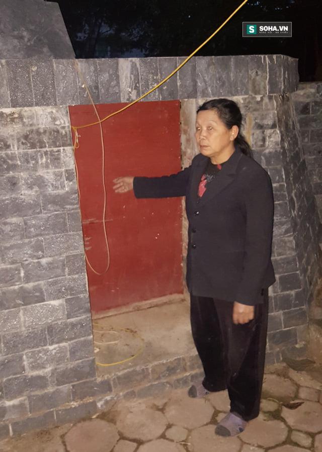 Căn hầm nơi vợ chồng bà Mến để tủ lạnh chứa hài nhi.
